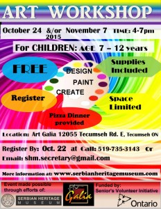Children's Art Workshop @ Art Galia | Windsor | Ontario | Canada