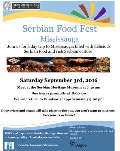 Serbian Food Fest - Mississauga @ Serbian Community Centre | Windsor | Ontario | Canada