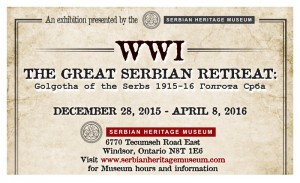 WWI: The Great Serbian Retreat @ Serbian Centre | Windsor | Ontario | Canada